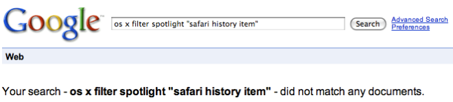 failed search